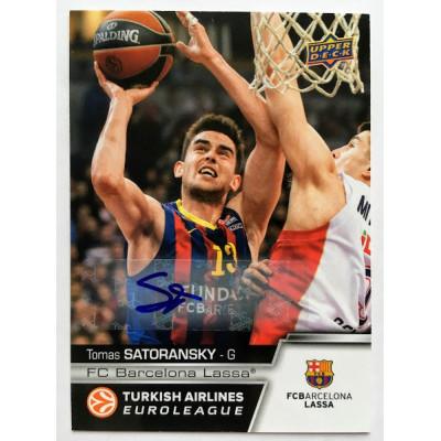 Коллекционная карточка 2015-16 Euroleague Autograph TOMAS SATORANSKY (FC Barcelona Lassa)