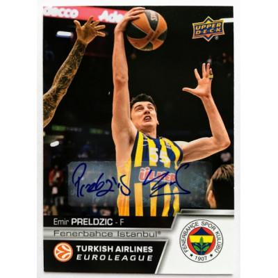 Коллекционная карточка 2015-16 Euroleague Autograph EMIR PRELDZIC (Fenerbahce Istanbul)