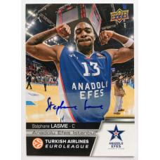 Коллекционная карточка 2015-16 Euroleague Autograph STEPHANE LASME (Efes Istanbul)