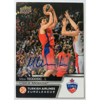 Коллекционная карточка 2015-16 Euroleague Autograph MILOS TEODOSIC (CSKA Moscow)