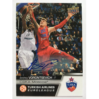Коллекционная карточка 2015-16 Euroleague Autograph ANDREY VORONTSEVICH (CSKA Moscow)