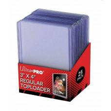 Топлодеры для карточек (25 шт.) Ultra-Pro Regular Toploader (для тонких стандартных карт)