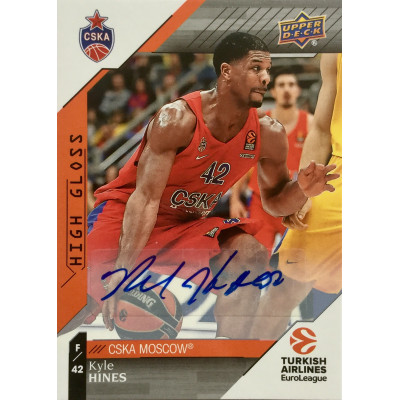 Коллекционная карточка 2017-18 Euroleague Autograph Kyle Hines (CSKA Moscow)