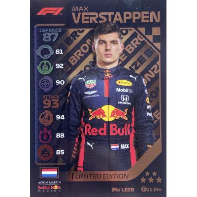 МАКС ФЕРСТАППЕН (Ред Булл) 2020 Topps Formula 1 Turbo Attax LE Bronze
