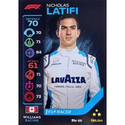 НИКОЛАС ЛАТИФИ (Уильямс) 2020 Topps Formula 1 Turbo Attax #66