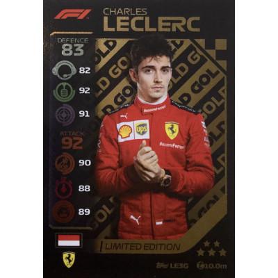 ШАРЛЬ ЛЕКЛЕР (Феррари) 2020 Topps Formula 1 Turbo Attax LE Gold