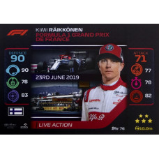 КИМИ РАЙККОНЕН (Альфа Ромео) 2020 Topps Formula 1 Turbo Attax #76