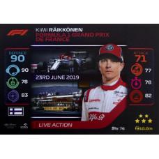 КИМИ РАЙККОНЕН (Альфа Ромео) 2020 Topps Formula 1 Turbo Attax #76