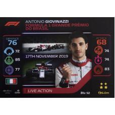 АНТОНИО ДЖОВИНАЦЦИ (Альфа Ромео) 2020 Topps Formula 1 Turbo Attax #92