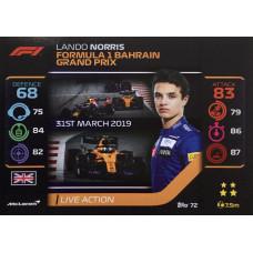 ЛАНДО НОРРИС (Макларен) 2020 Topps Formula 1 Turbo Attax #72