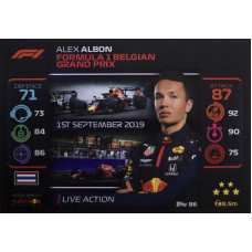 АЛЕКС АЛБОН (Ред Булл) 2020 Topps Formula 1 Turbo Attax #86