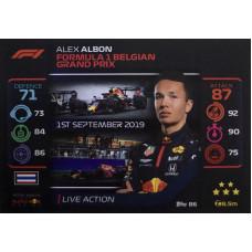 АЛЕКС АЛБОН (Ред Булл) 2020 Topps Formula 1 Turbo Attax #86