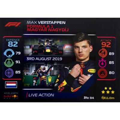 МАКС ФЕРСТАППЕН (Ред Булл) 2020 Topps Formula 1 Turbo Attax #84