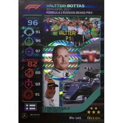 ВАЛТТЕРИ БОТТАС (Мерседес) 2020 Topps Formula 1 Turbo Attax #145