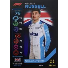 ДЖОРДЖ РАССЕЛЛ (Уильямс) 2020 Topps Formula 1 Turbo Attax #3