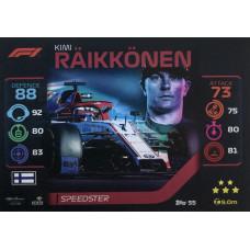 КИМИ РАЙККОНЕН (Альфа Ромео) 2020 Topps Formula 1 Turbo Attax #55