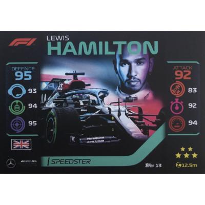 ЛЬЮИС ХЭМИЛТОН (Мерседес) 2020 Topps Formula 1 Turbo Attax #13