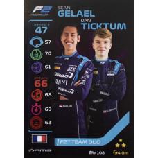 ШОН ГЕЛАЭЛ / ДЭН ТИКТУМ (DAMS) 2020 Topps Formula 1 Turbo Attax #108