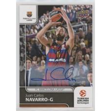 Коллекционная карточка 2016-17 Euroleague Autograph JUAN CARLOS NAVARRO (FC Barcelona Lassa)