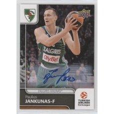 Коллекционная карточка 2016-17 Euroleague Autograph PAULIUS JANKUNAS (Zalgiris Kaunas)