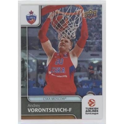 Коллекционная карточка 2016-17 Euroleague #13 ANDREY VORONTSEVICH (CSKA Moscow)