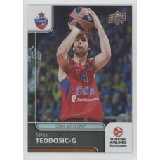 Коллекционная карточка 2016-17 Euroleague #3 MILOS TEODOSIC (CSKA Moscow)
