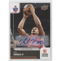 Коллекционная карточка 2016-17 Euroleague Autograph KYLE HINES (CSKA Moscow)