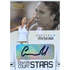 АНАСТАСИЯ МЫСКИНА (автограф) 2006 Ace Authentic Center Court Stars