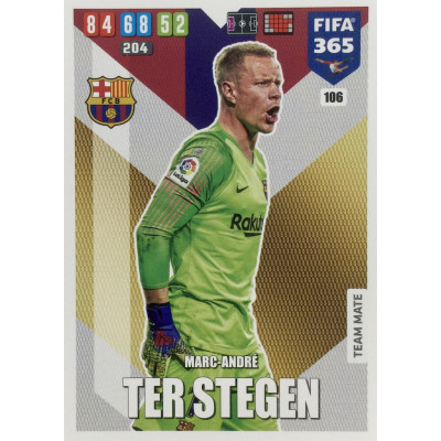 МАРК-АНДРЕ ТЕР СТЕГЕН (Барселона) 2020 Panini FIFA 365 Adrenalyn XL