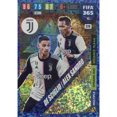 ДЕ ШИЛЬО, АЛЕКС САНДРО (Ювентус) 2020 Panini FIFA 365 Adrenalyn XL. Dynamic Duo