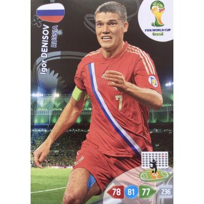 ИГОРЬ ДЕНИСОВ (Россия) Panini Adrenalyn XL World Cup 2014