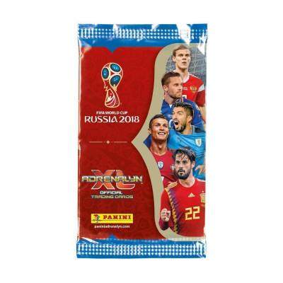 1 пакетик (6 карточек) по коллекции Adrenalyn XL FIFA World Cup 2018. Panini.