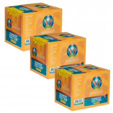 3 блока (150 пакетиков по 5 наклеек) Panini UEFA Euro 2020 Tournament Edition