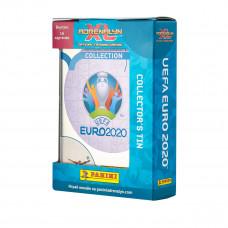 1 мини-тин (16 карточек + подарочная коробочка) по коллекции Panini Euro 2020 Adrenalyn XL