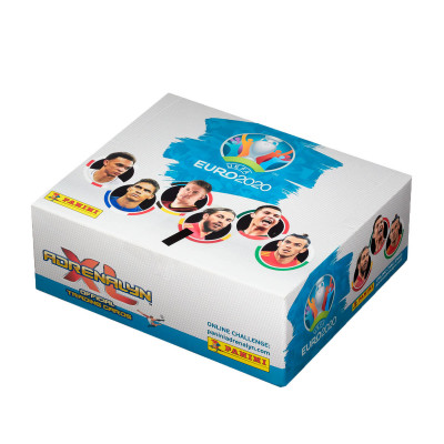 1 блок (24 пакетика по 8 карточек) по коллекции Panini Euro 2020 Adrenalyn XL