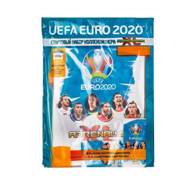 Альбом + 2 пакетика (стартовый набор) по коллекции Panini Euro 2020 Adrenalyn XL