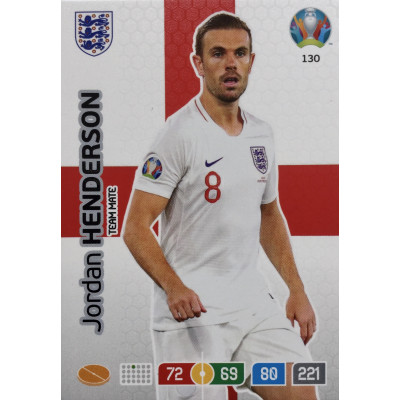 ДЖОРДАН ХЕНДЕРСОН (Англия) Panini Adrenalyn XL Euro 2020