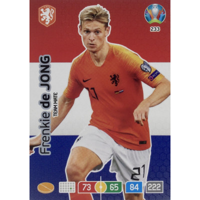 ФРЕНКИ ДЕ ЙОНГ (Нидерланды) Panini Adrenalyn XL Euro 2020