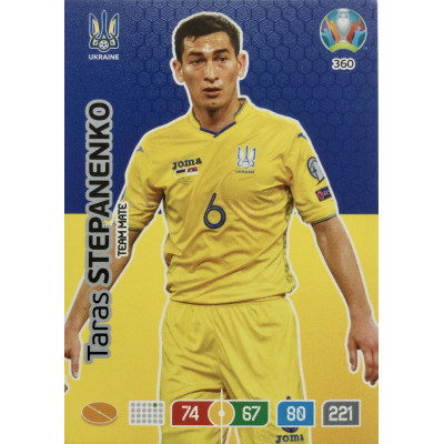 ТАРАС СТЕПАНЕНКО (Украина) Panini Adrenalyn XL Euro 2020