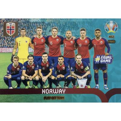 НОРВЕГИЯ Panini Adrenalyn XL Euro 2020 Play-Off Team