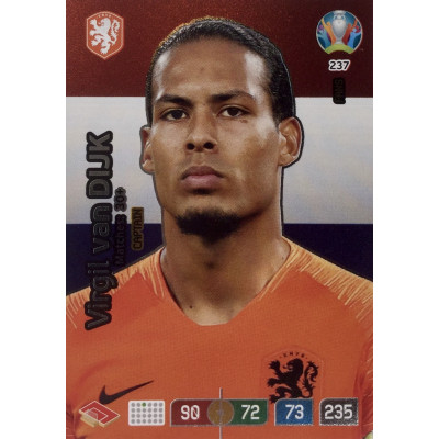 ВИРДЖИЛ ВАН ДЕЙК (Нидерланды) Panini Adrenalyn XL Euro 2020 Fans Captain
