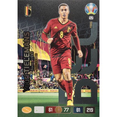 ЮРИ ТИЛЕМАНС (Бельгия) Panini Adrenalyn XL Euro 2020 Wonder Kid