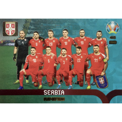 СЕРБИЯ Panini Adrenalyn XL Euro 2020 Play-Off Team