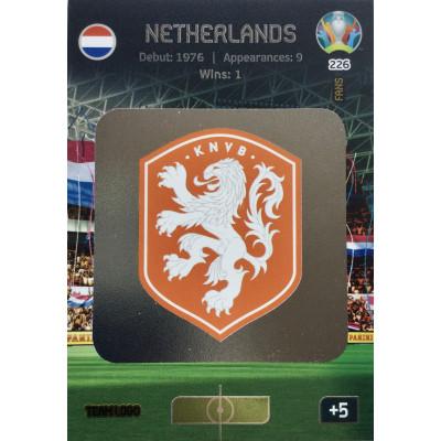 НИДЕРЛАНДЫ (логотип) Panini Adrenalyn XL Euro 2020 Team Logo