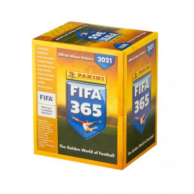 1 блок наклеек (50 пакетиков) 2021 Panini FIFA 365