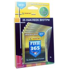 1 блистер наклеек (5 пакетиков) 2021 Panini FIFA 365