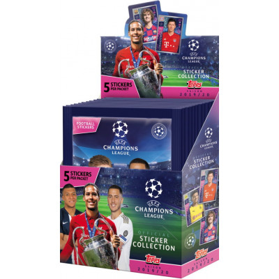 1 блок наклеек (30 пакетиков) 2019-20 Topps UEFA Champions League