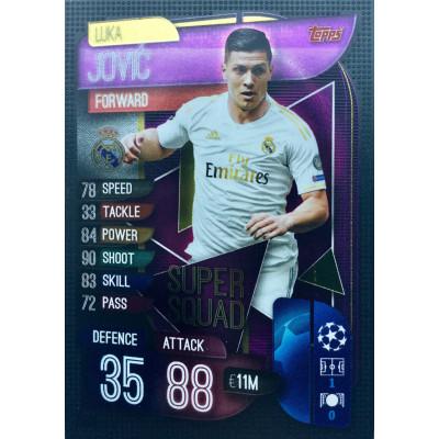 ЛУКА ЙОВИЧ (Реал Мадрид) 2019-20 Topps Match Attax UEFA Champions League Super Squad