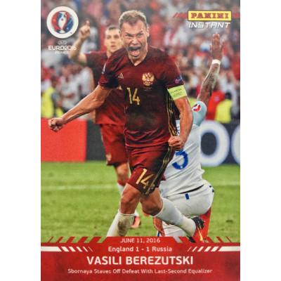 ВАСИЛИЙ БЕРЕЗУЦКИЙ (Россия) 2016 Panini Instant UEFA Euro