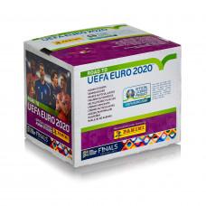 1 блок наклеек (50 пакетиков) Panini Road to Euro 2020
